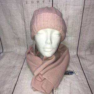 NEW Portolano Cashmere Wool Blend Soft Pink Beanie